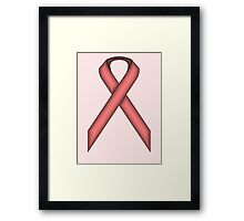 Pink Standard Ribbon Framed Print
