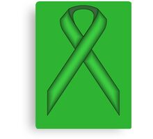 Green Standard Ribbon Canvas Print