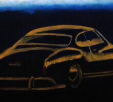 VW Karmann Ghia Gold in the morning Sticker