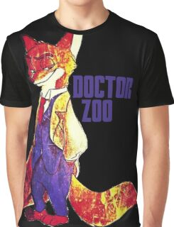Doctor Zoo: Zootopia/Doctor Who Nick Wilde Crossover Graphic T-Shirt