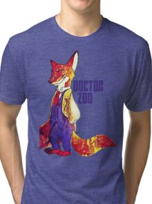 Doctor Zoo: Zootopia/Doctor Who Nick Wilde Crossover Tri-blend T-Shirt
