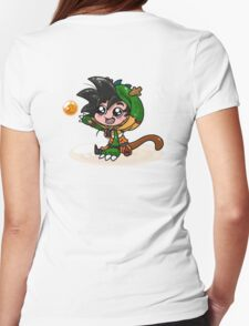 Lil' Dragon Goku Womens Fitted T-Shirt