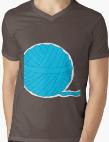Ball of Yarn - Itty Bitty Kitty  Committee Collection Mens V-Neck T-Shirt