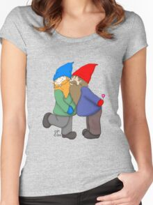 Gnomes In Love Women's Fitted Scoop T-Shirt