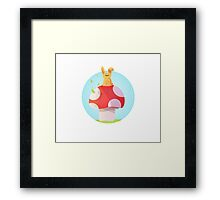 Cute Bunny Kids Design Framed Print