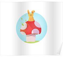Cute Bunny Kids Design Poster