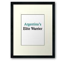 Argentina's Elite Warrior  Framed Print