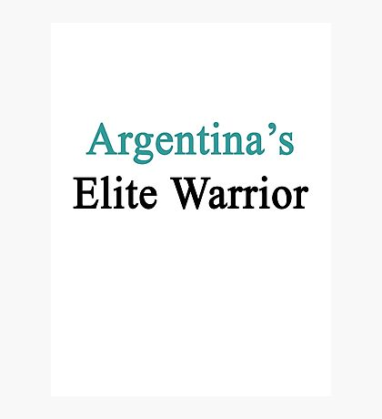 Argentina's Elite Warrior  Photographic Print