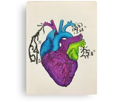 Heart Pie Chart Canvas Print