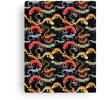 Graphic pattern Beautiful salamande Canvas Print