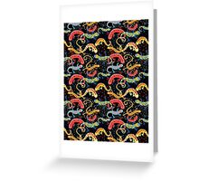 Graphic pattern Beautiful salamande Greeting Card