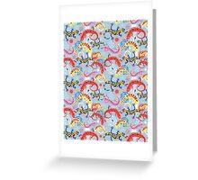 Graphic pattern Beautiful salamander Greeting Card