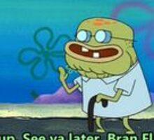Spongebob: Old Man Jenkens Bran Flakes Sticker