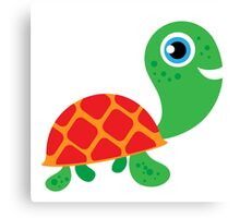 Cute Reptiles Turtle Canvas Print