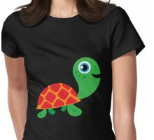 Cute Reptiles Turtle Womens Fitted T-Shirt