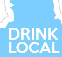 New York Drink Local NY NYC Blue Sticker
