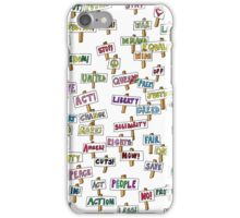Protest slogans iPhone Case/Skin