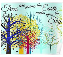 Poetry of Trees. Poster