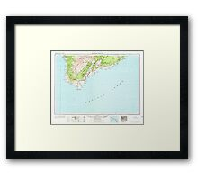 USGS TOPO Map Hawaii HI Hawaii South 349926 1962 250000 Framed Print