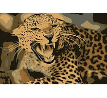 Wild leopard in 7 colors Photographic Print