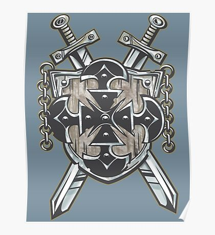 Hero's Coat of Arms Poster
