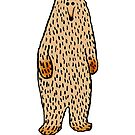 Cartoon drawing of a cute brown bear by Mary Taylor
