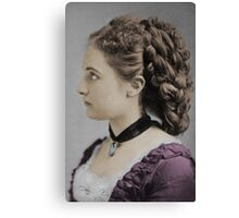 Victorian Hairstyle Canvas Print