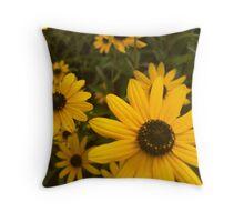 yellow flower power Throw Pillow