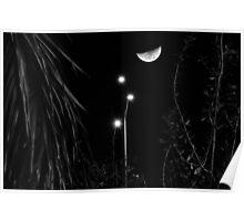 Long exposure Moon Poster