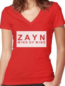 M.o.M // White Women's Fitted V-Neck T-Shirt