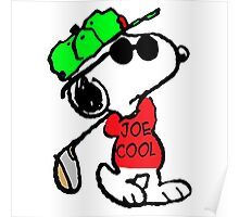 Snoopy Joe Cool and Golf Poster