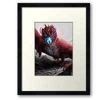 Cold Fire Framed Print