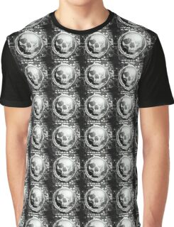Pencil Sketch Skull Graphic T-Shirt