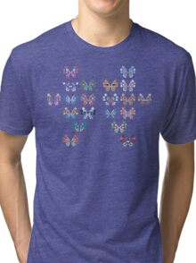 Pokemon - Vivillon Pattern Tri-blend T-Shirt