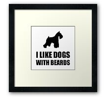 Dog Beard Schnauzer Framed Print