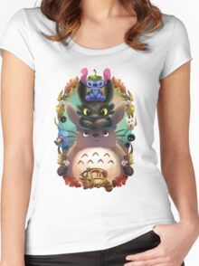 Totoro lilo Women's Fitted Scoop T-Shirt