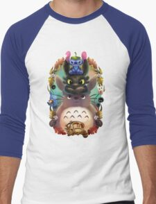 Totoro lilo Men's Baseball ¾ T-Shirt
