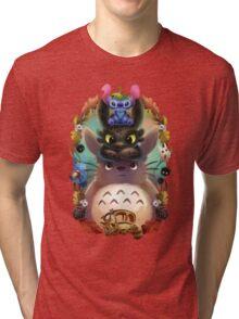 Totoro lilo Tri-blend T-Shirt