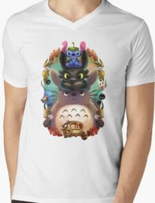 Totoro lilo Mens V-Neck T-Shirt