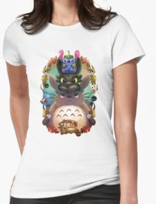 Totoro lilo Womens Fitted T-Shirt