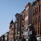 Classic Architecture, Historic Newark Avenue, Jersey City, New Jersey  by lenspiro