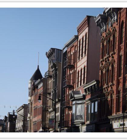 Classic Architecture, Historic Newark Avenue, Jersey City, New Jersey  Sticker