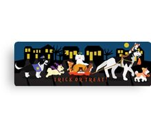 Trick or treat Pets Canvas Print