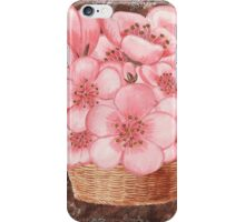 Basket With Pink Flowers iPhone Case/Skin