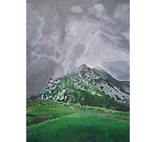 Mountain Landscape Acrylic Painting Photographic Print