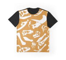 Dinosaur Bones (Gold) Graphic T-Shirt