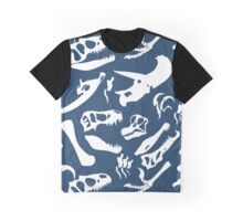 Dinosaur Bones (Blue) Graphic T-Shirt
