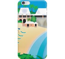 Bermuda - Skyline Illustration by Loose Petals iPhone Case/Skin