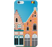 Bruges, Belgium - Skyline Illustration by Loose Petals iPhone Case/Skin