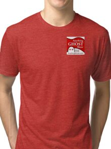 Anything Ghost Black and Red Logo Tri-blend T-Shirt
